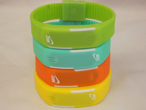 relógio pulseira sport nike digital led bracelete.de2bateria