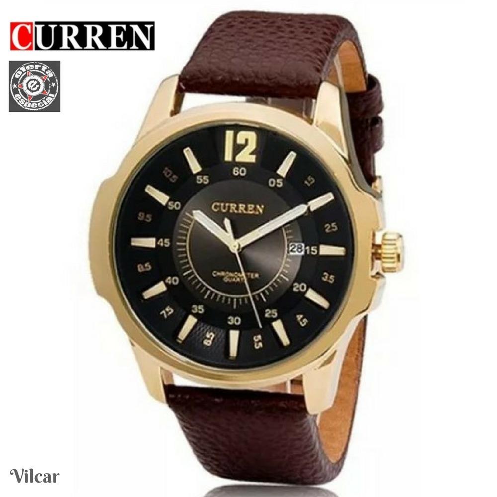 04e826cf84b relógio pulso curren 8123 esportivo quartz analógico - couro. Carregando  zoom.