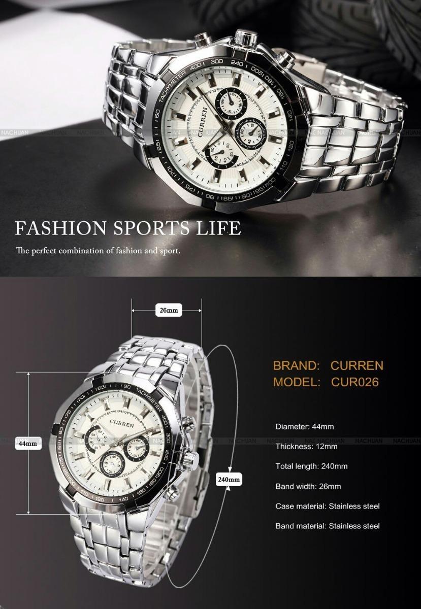 c503ac70bf3 Relógio De Pulso Curren Masculino Moda Dos Homens - R  149