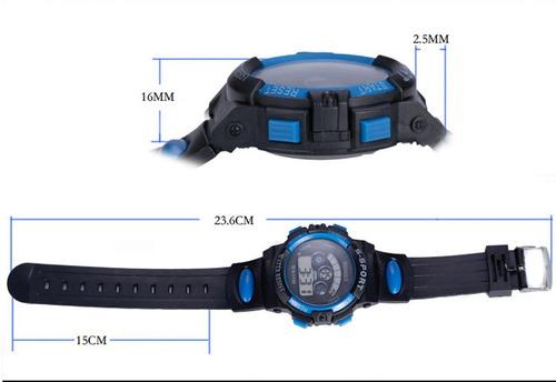 relógio pulso digital led infantil masculino resistênte água