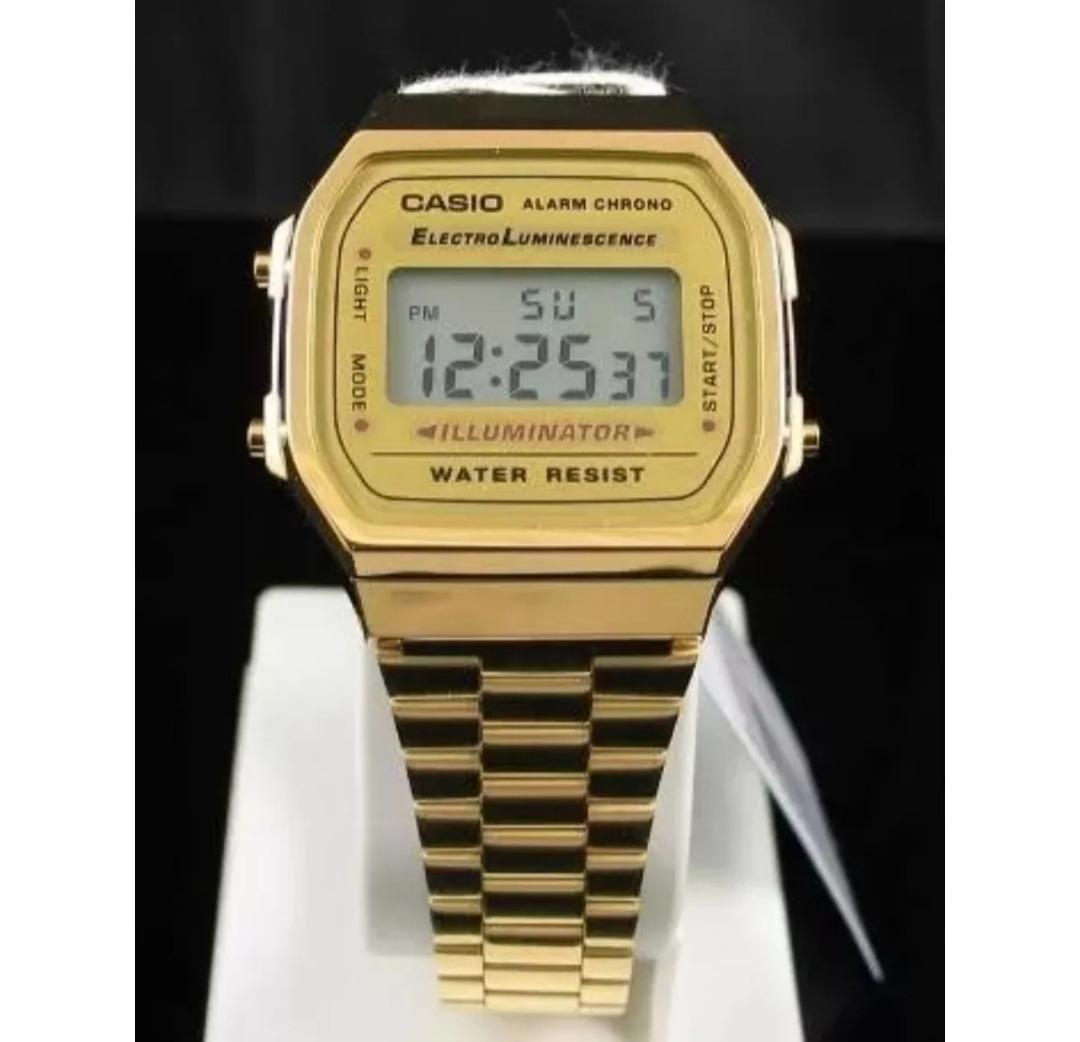 793e3aa357a Relógio Pulso Dourado Unisex Cassio Retrô Original Promoção - R  89 ...