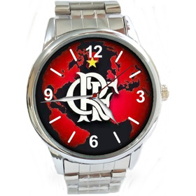 Relógio Pulso Esportivo Torcedor Flamenguista Promoção Ac