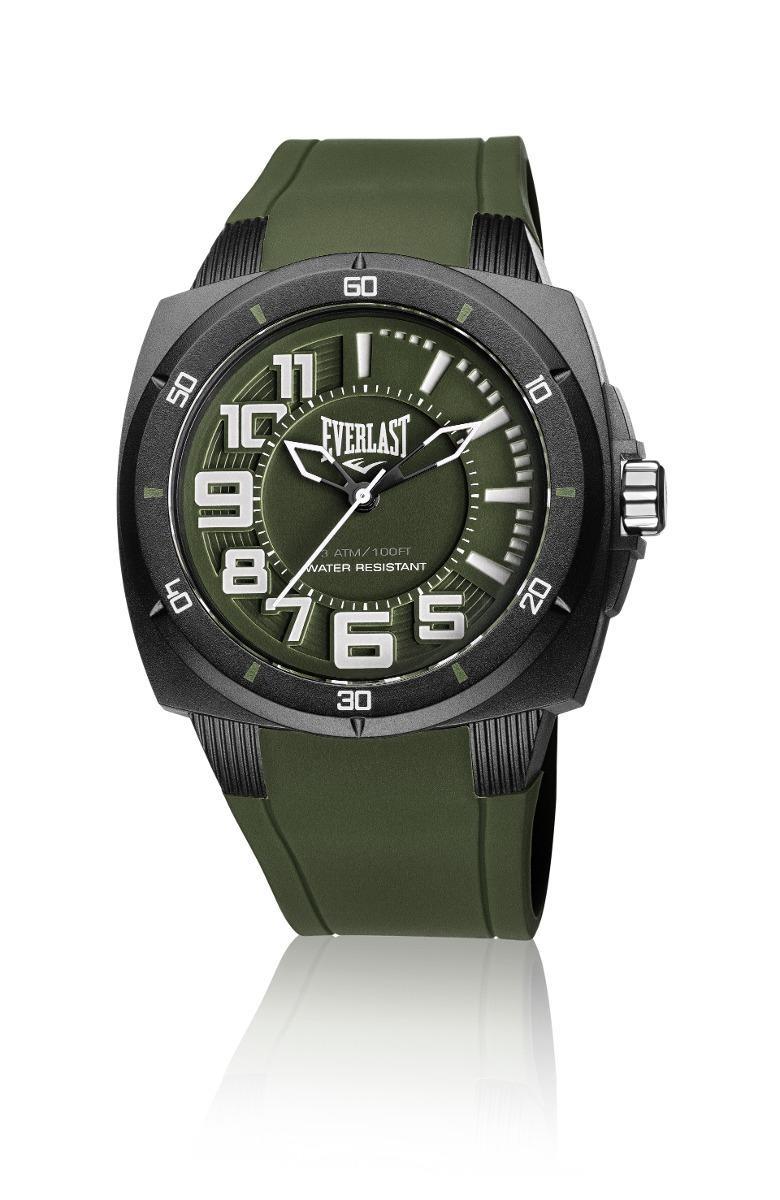 4d9e64517b3 Relógio Pulso Everlast Bold E680 Com Pulseira Silicone Verde - R ...