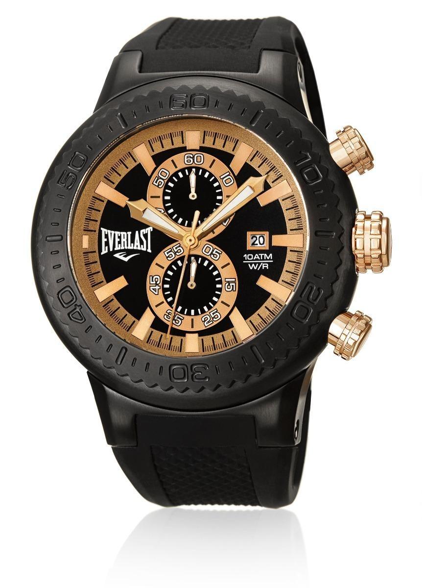 3d9cedf4068 relógio pulso everlast cronógrafo pulseira silicone e585. Carregando zoom.