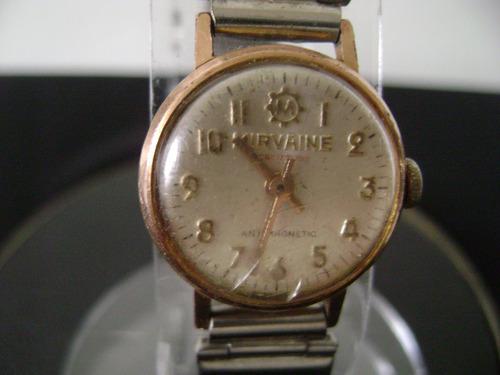 e975a47b49e Antigo Relógio De Pulso Feminino Em Plaquê De Ouro A Corda - R  83 ...