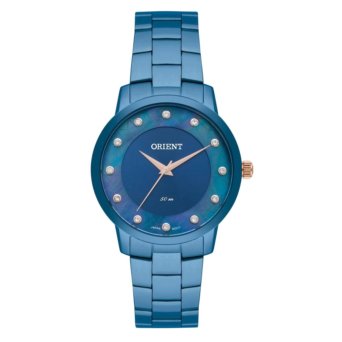 58ea2a5fa1a29 Relógio De Pulso Orient Feminino Com Cristais Swarovski Fass - R ...