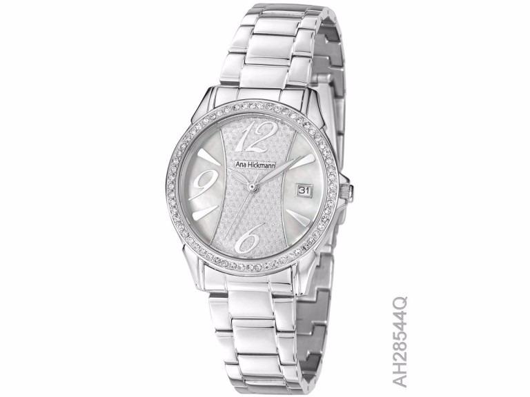 939464e139a Relógio De Pulso Feminino Ana Hickmann Aço Ah28544q - R  319