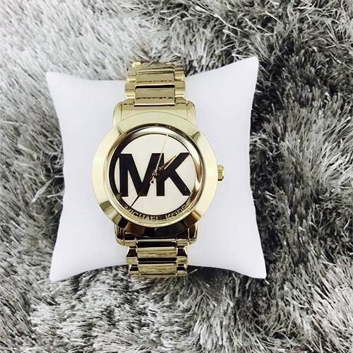 relógio pulso feminino michael kors aço dourado mk3206