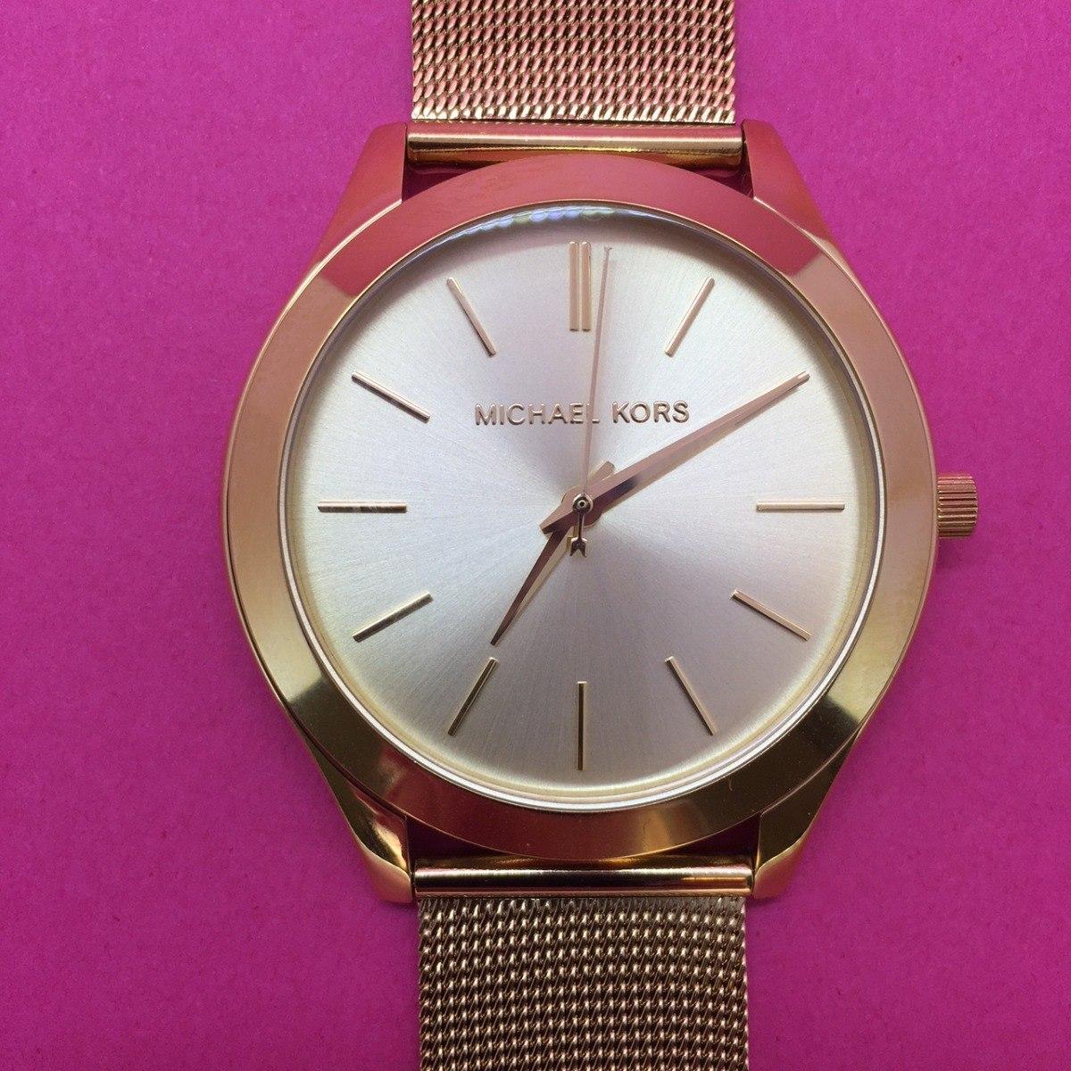 e75e5fe00d405 Relógio Pulso Feminino Michael Kors Aço Dourado Mk3282 - R  1.049,00 ...