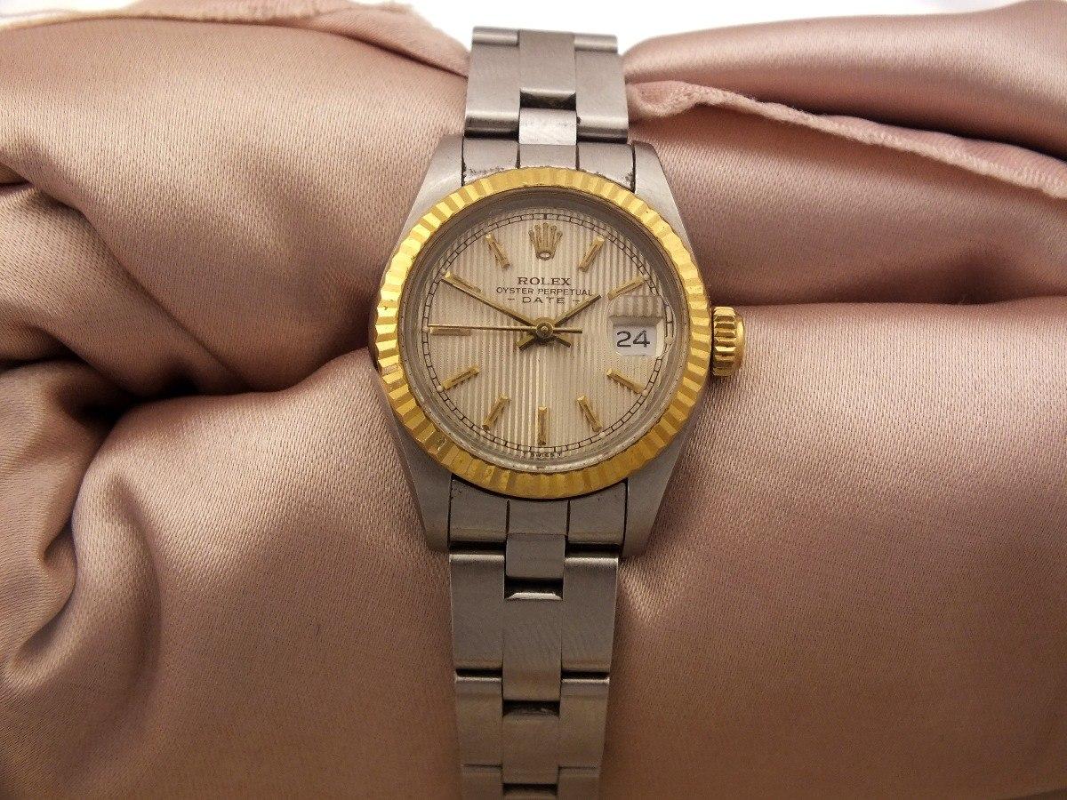84a2d2f065f Relógio De Pulso Feminino Rolex Calendário Em Aço J19985 - R  4.999 ...