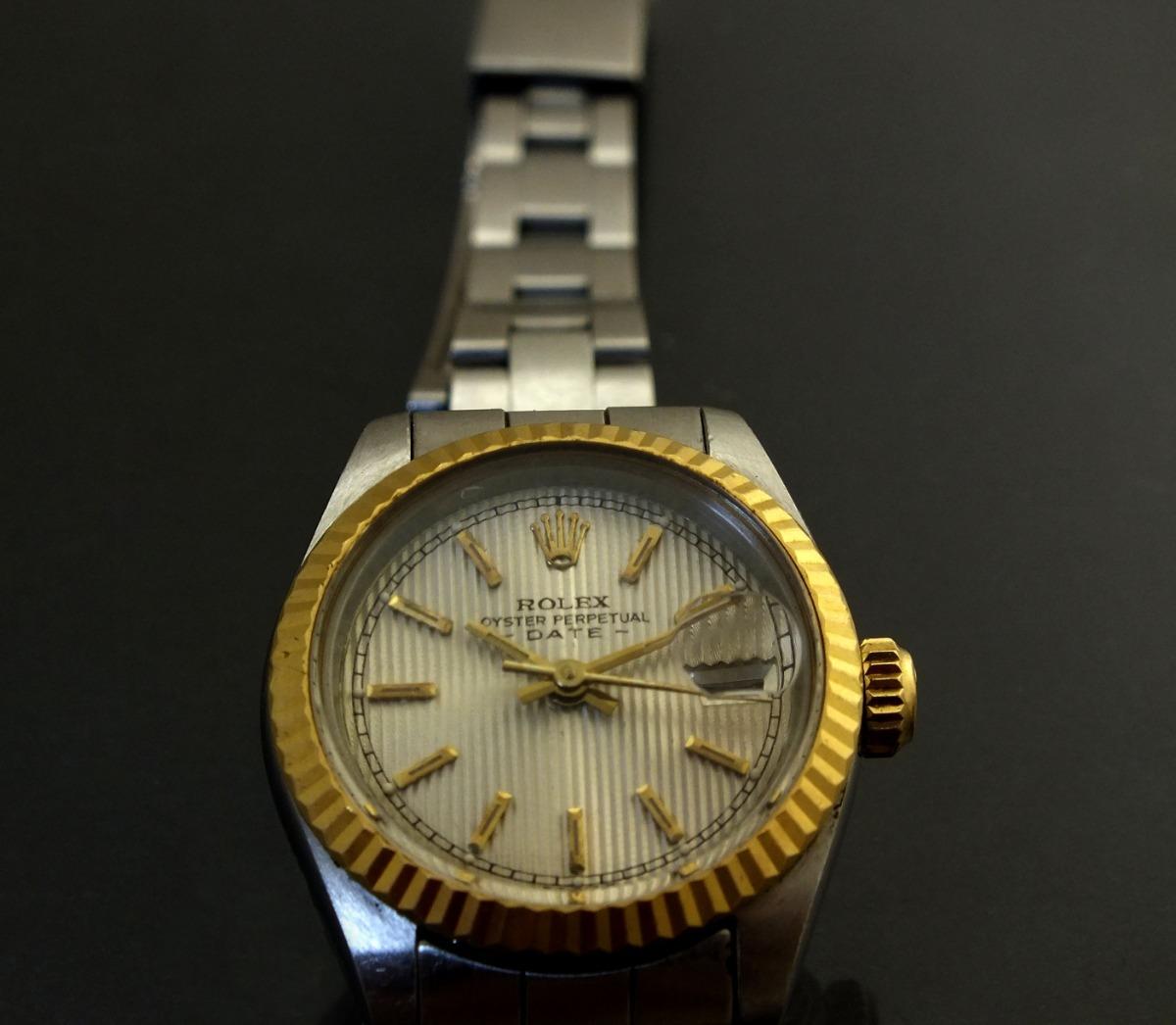 fc2fc4308f5 relógio pulso feminino rolex calendário em aço ouro j19985. Carregando zoom.
