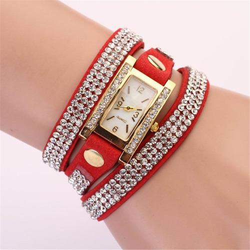 relógio pulso feminino stilo e vida pulseira couro novidade