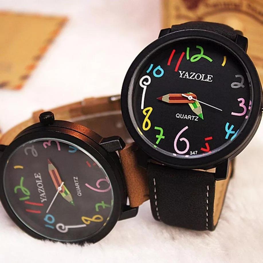 9dc65849eca relógio pulso feminino yazole ou chronos quartzo. Carregando zoom.