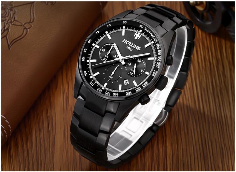 e9ca6c55227 Relógio Pulso - Holuns Multifunção 5bar 45mm - Vidro Hardlex - R ...