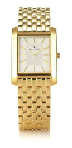 relógio pulso jean vernier aço moderno feminino jv02010