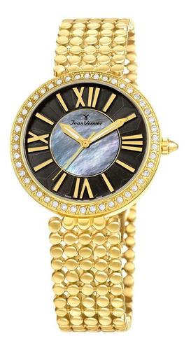 relógio pulso jean vernier elegante feminino jv01321