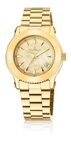 relógio pulso jean vernier moderno casual feminino jv01023