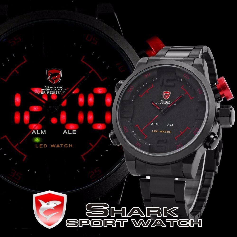 ec0a6cd8307 relogio pulso luxo shark militar esportivo analógico digital. Carregando  zoom.