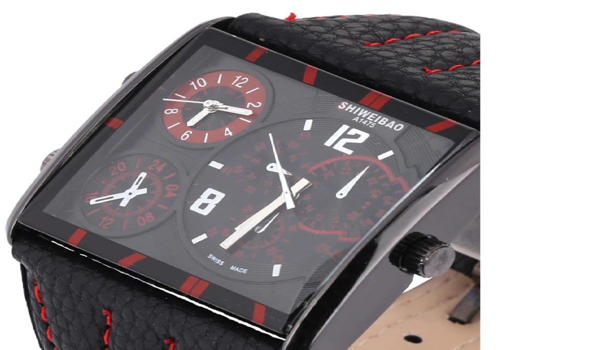 9e2d0aec669 relógio pulso masculino red black shiweibao analógico fuso · relógio pulso  masculino. Carregando zoom.