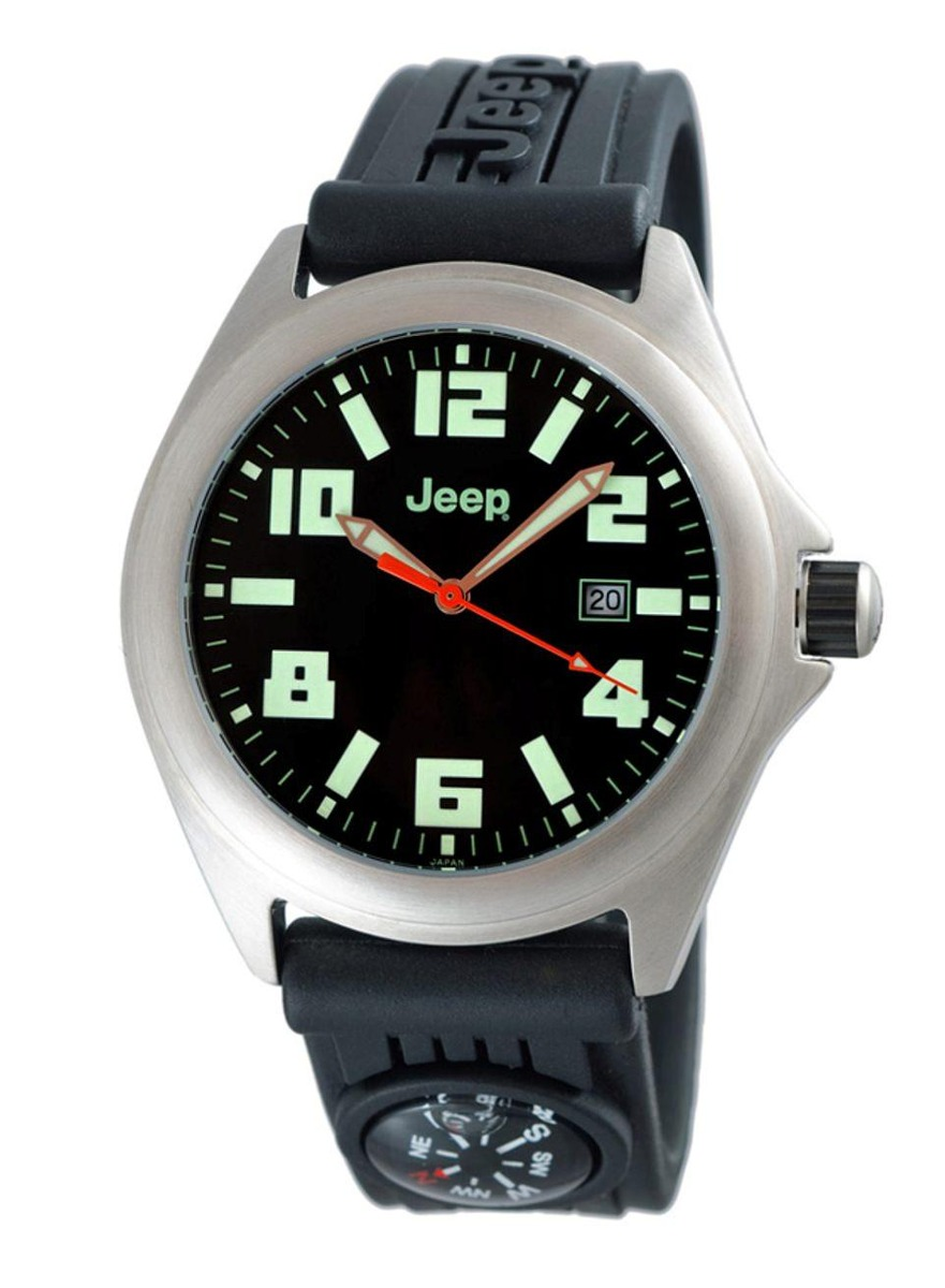 4ed1e603497 Descrição. Relógio De Pulso Masculino Jeep JE1031 Caixa Aço Pulseira  Silicone