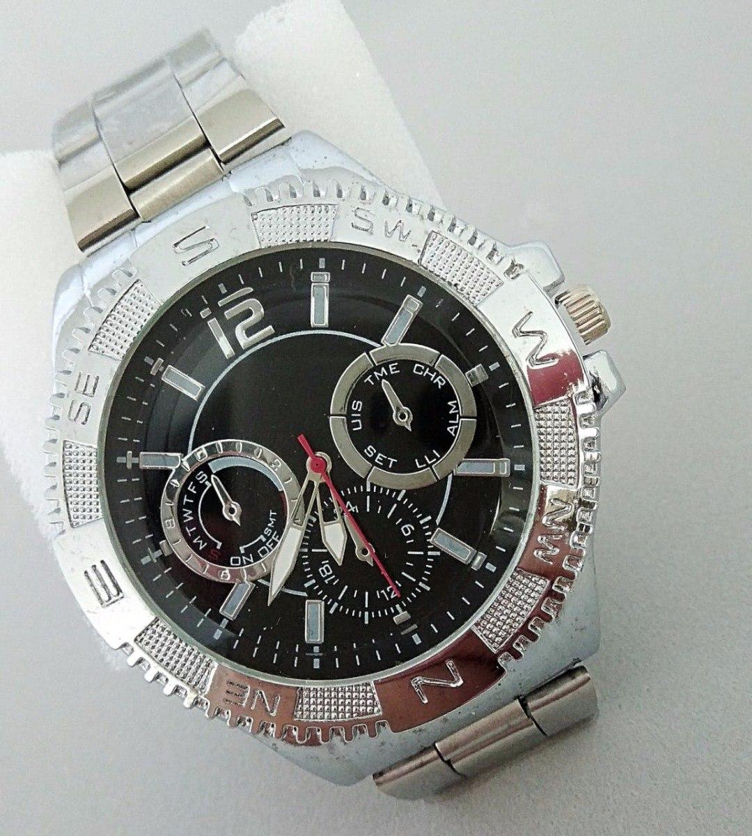 3e50eb502fd Relógio De Pulso Masculino Prateado Elite Luxuoso Promoção - R  34 ...