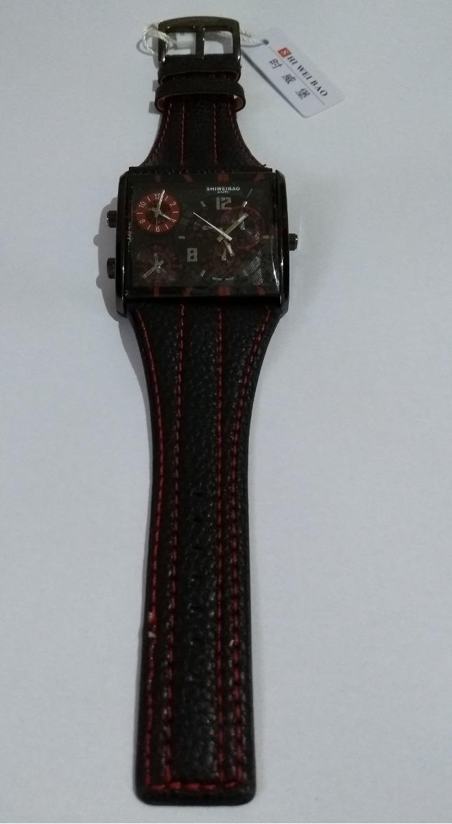 11570491442 relógio pulso masculino red black shiweibao analógico fuso. Carregando  zoom... relógio pulso masculino. Carregando zoom.
