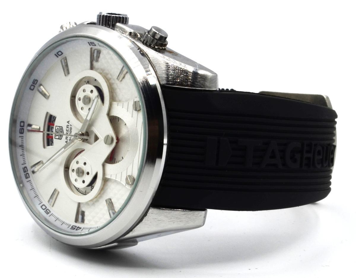9cc34ce61e1 Relógio Pulso Masculino Bracelete Emborrachado - R  334