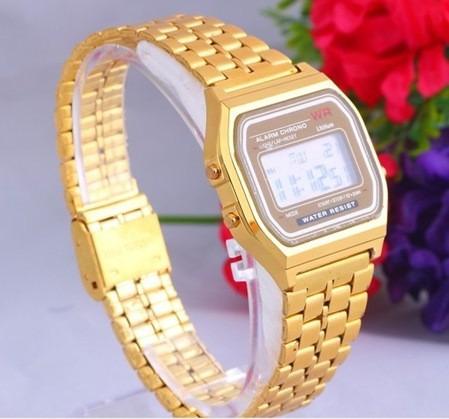 44be9261bc5 Relógio De Pulso Masculino Casio Wr Gold Dourado Importado - R  89 ...