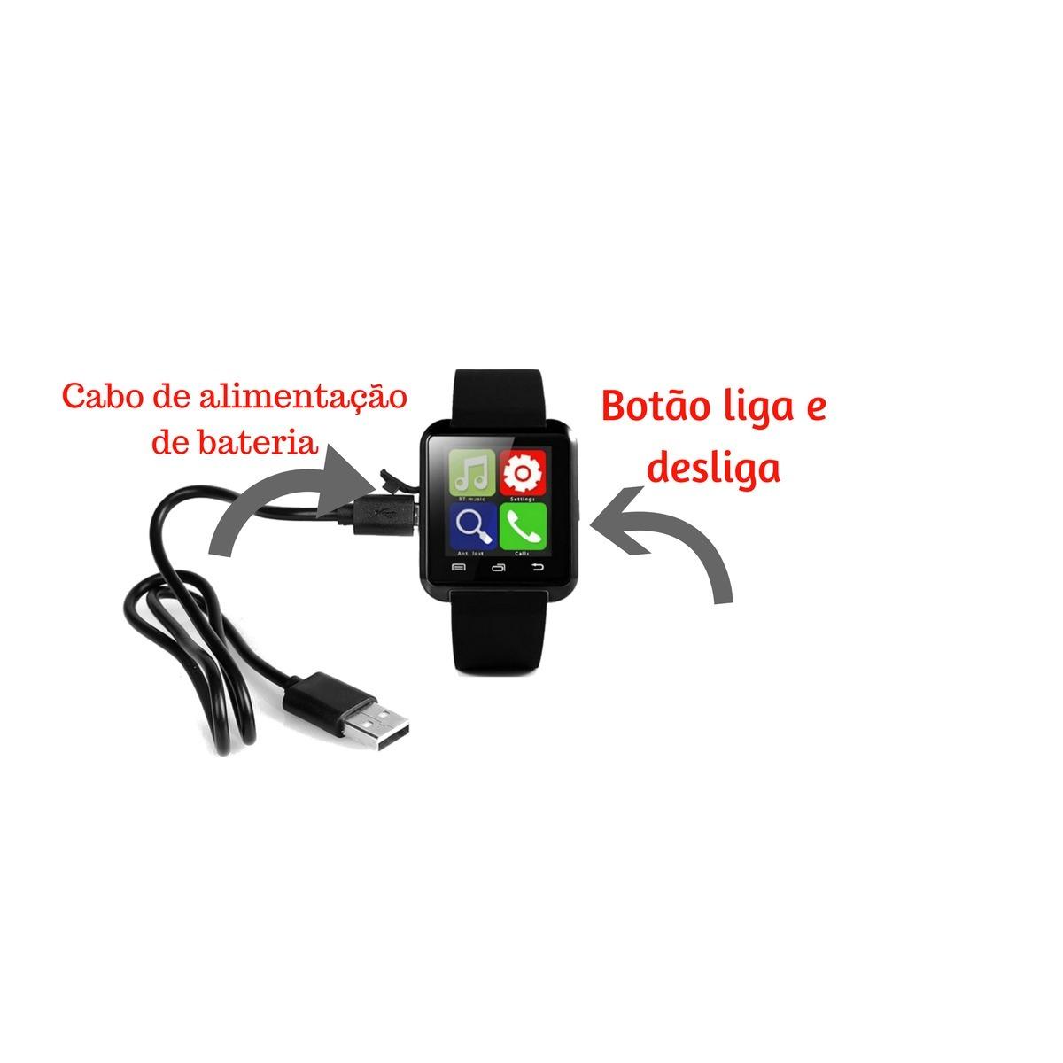 97cb98f7ade89 relógio pulso masculino digital bluetooth android - promoção. Carregando  zoom.