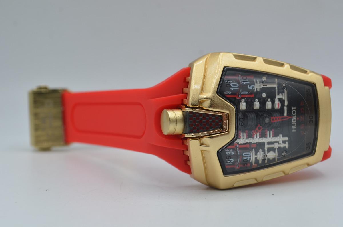 f95ba1256b9 relógio pulso masculino hublot la ferrari dourado vermelho. Carregando zoom.