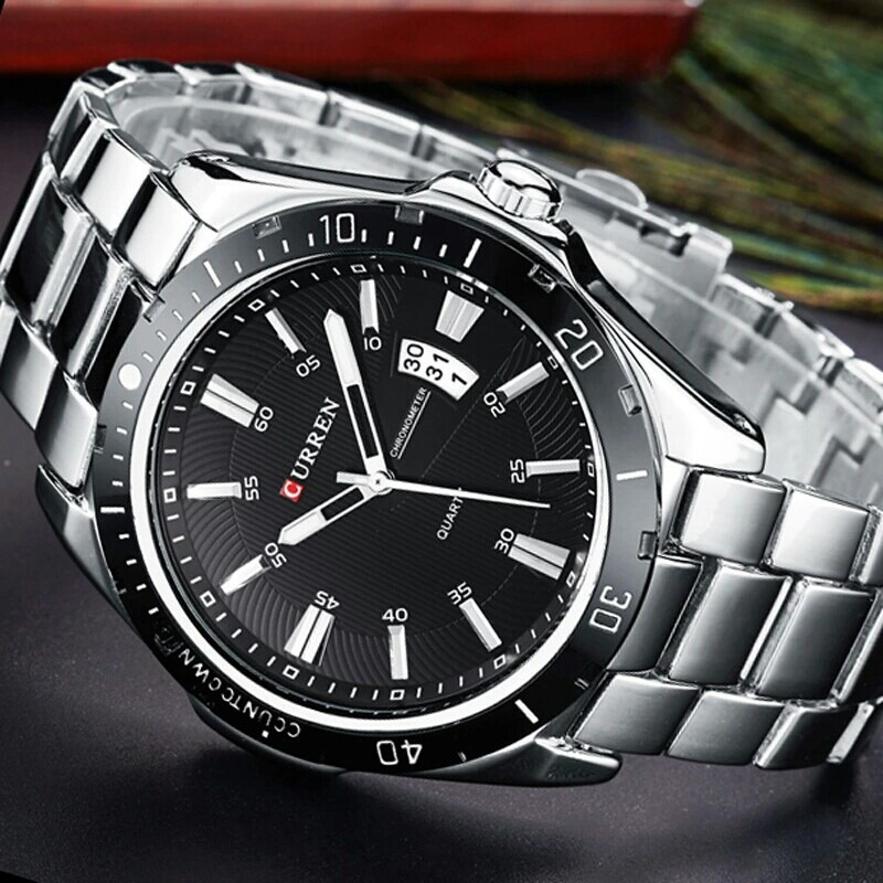 6a9c044c9da relógio pulso masculino original curren moda social e casual. Carregando  zoom.