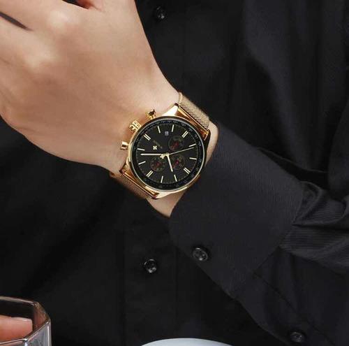 relógio pulso masculino original luxo wwoor  fino c/ nf