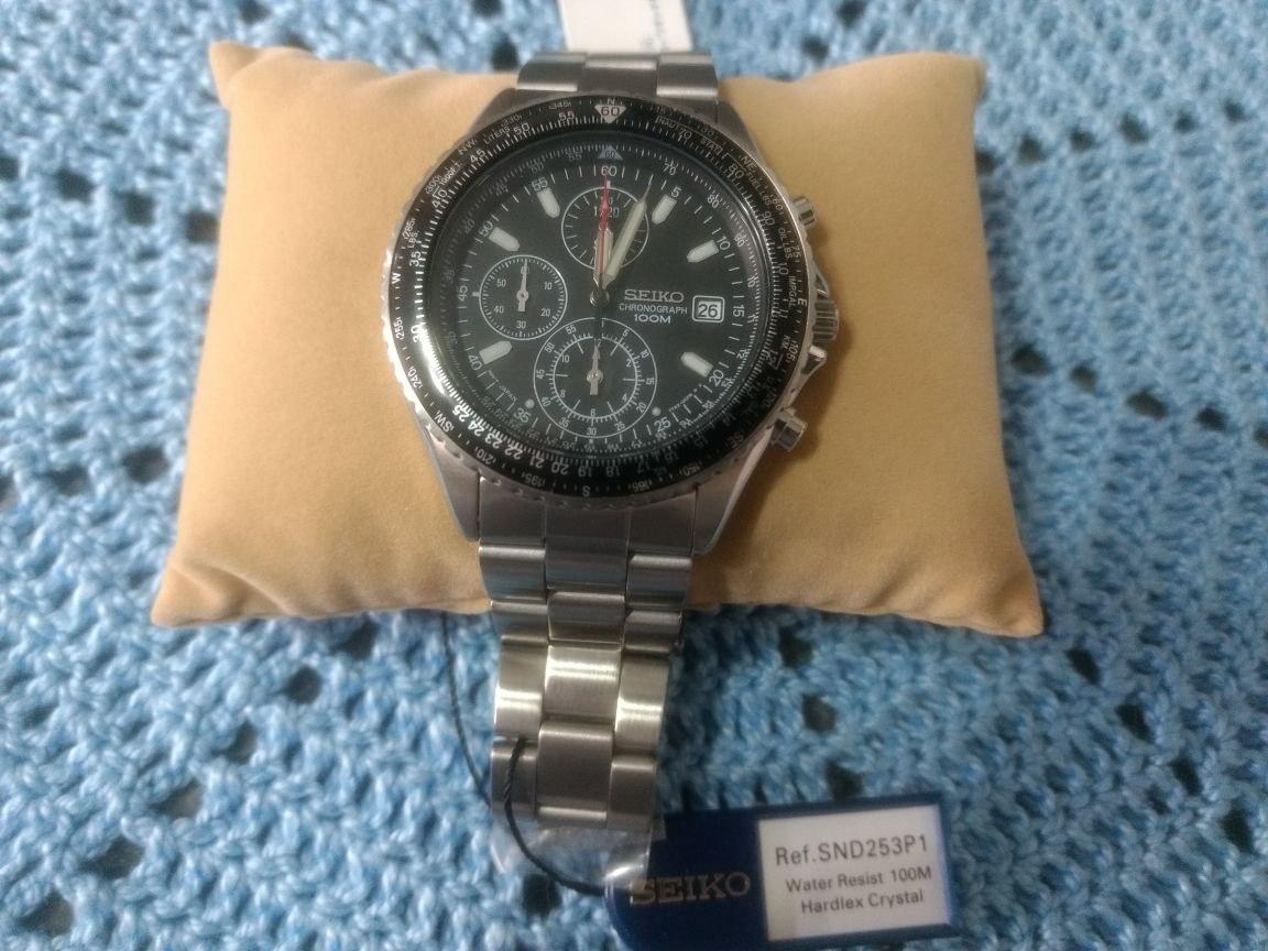 6de00bdd30c Relógio De Pulso Masculino Seiko Snd253p1 Chronograph Watch - R  750 ...