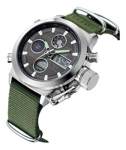 relógio pulso militar army digital / analógico - multifunção