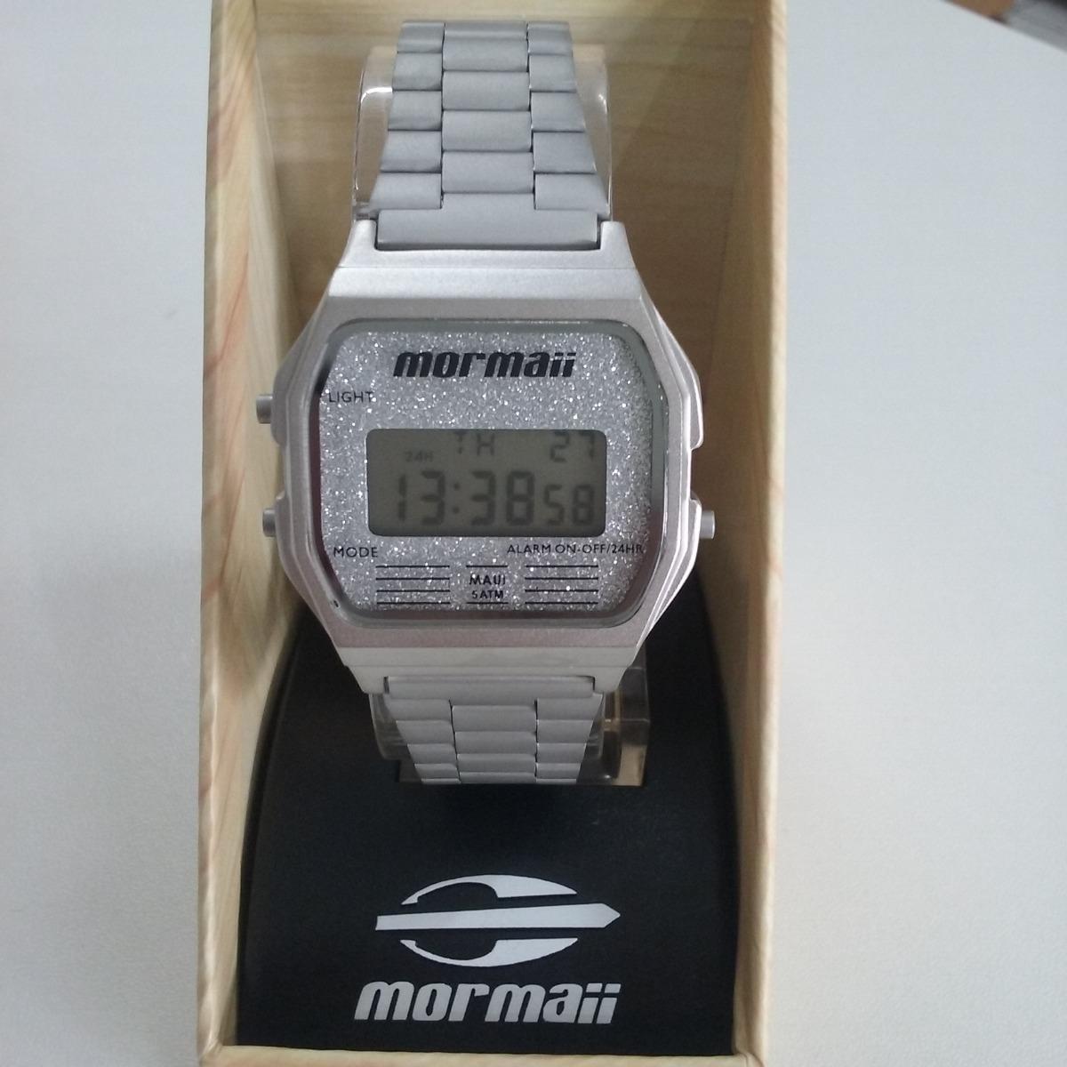 7d7022cb99fa1 Relógio De Pulso Mormaii Vintage Prata - R  235