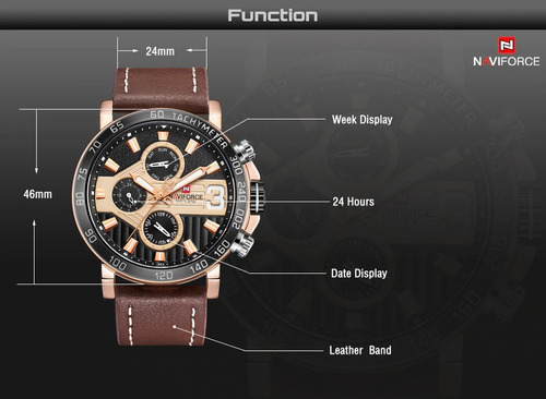 relógio pulso naviforce esporte masculino original nf9137rgb