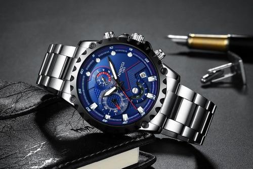 relógio pulso - nibosi - multifuncional - hardlex