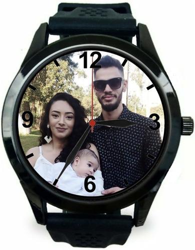 relógio pulso personalizado com foto imagem logo barato novo