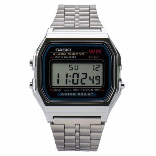 88e8ccbdf62 Relógio Pulso Prata Unisex Cassio Retrô Vintage Barato Prata