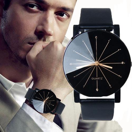 relógio pulso preto mascunino e feminino casual lindo barato