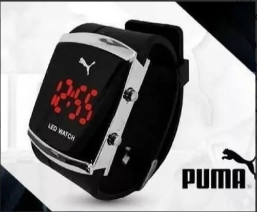 fe759acc577 relógio led pulso puma digital feminino colorido menor preço · relógio  pulso puma