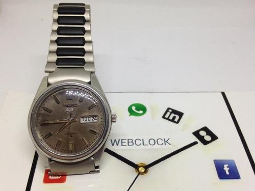 relógio pulso seiko 5 automático masculino t12506 webclock