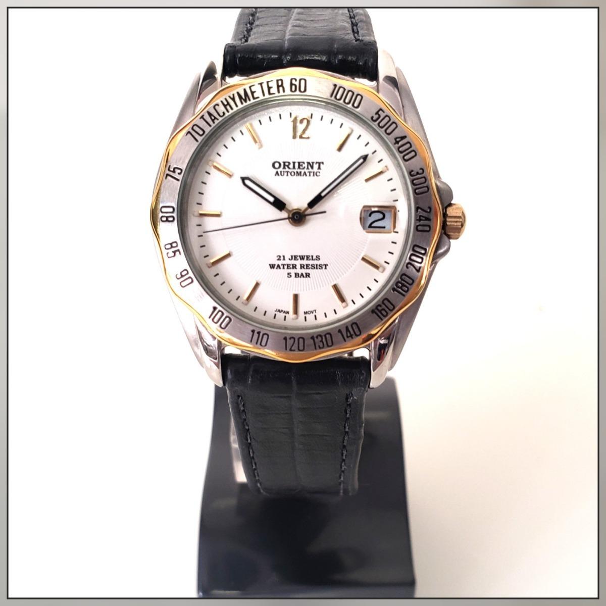 Relógio Pulso Unissex Orient Automático E Corda Couro Preto - R  479 ... efa04cbdc8