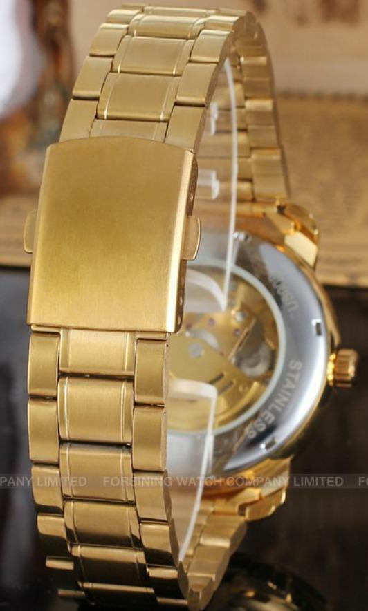031a51a5b12 relógio pulso winner esqueleto automático banhado a ouro. Carregando zoom...  relógio pulso winner. Carregando zoom.