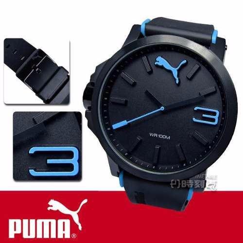0232640a260 relógio puma masculino ultrasize xl pu102941002 preto   azul · relógio puma  masculino