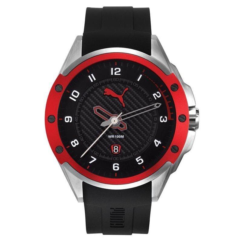 ea08bbbdc67 Relógio Puma Masculino Aro Detalhe Vermelho 96272g1psnu1 - R  497