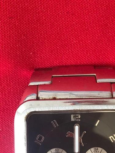 relógio puma original masculino - aço inoxidável - analógico