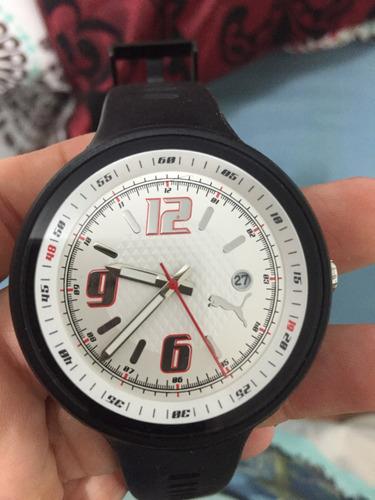 relógio puma pu910691002 slick white dial