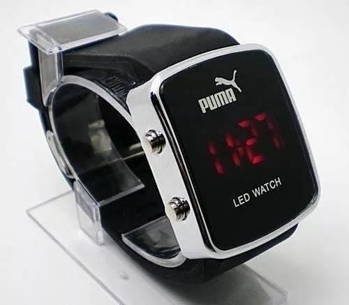 b08522f9cbd Relógio Puma Led Watch Preto Pulso Digital Silicone Bonito - R  85 ...