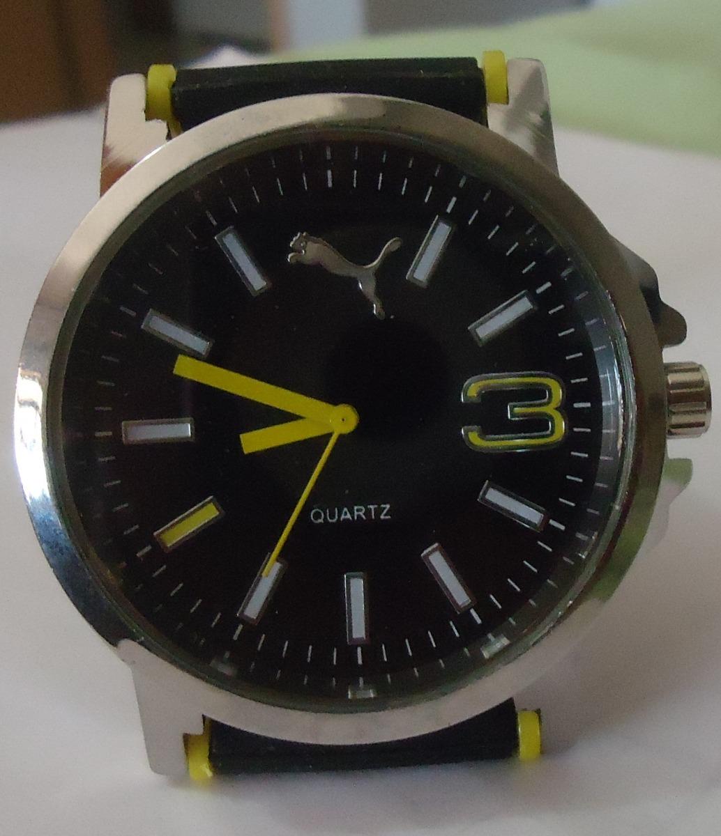 aab2b0da6fe relógio puma sport metal - pulseira borracha preta. Carregando zoom.